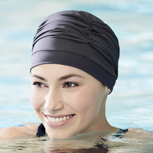 Gorro de baño especial piel sensible Nylon/Elástico, Azul