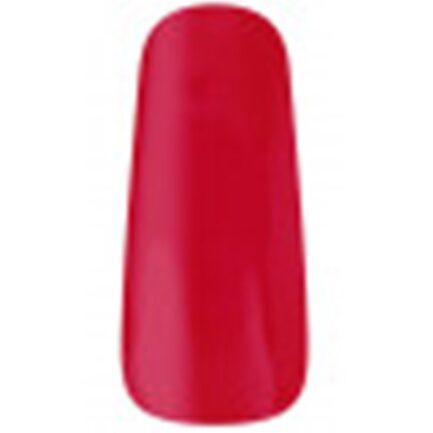 uña de muestrario esmaltada con el color rojo