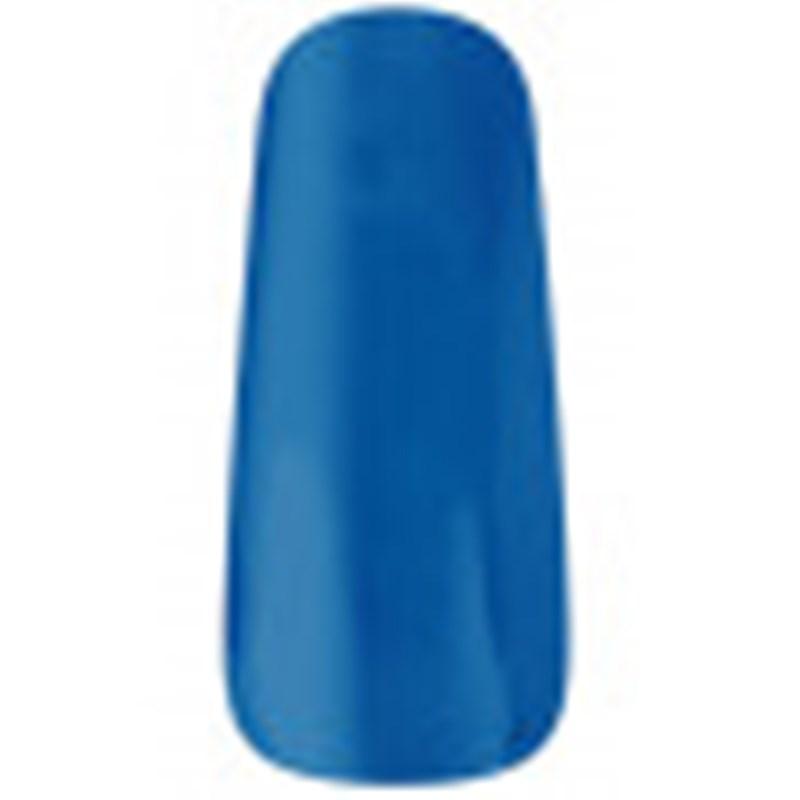 uña de muestrario esmaltada en color azul eléctrico